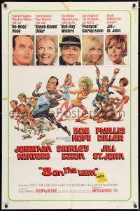 7h021 8 ON THE LAM 1sh '67 Bob Hope, Phyllis Diller, Jill St. John, wacky Jack Davis art of cast!