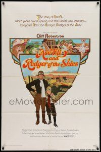 7h028 ACE ELI & RODGER OF THE SKIES 1sh '72 pilot Cliff Robertson, written by Steven Spielberg!