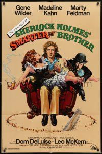 7h032 ADVENTURE OF SHERLOCK HOLMES' SMARTER BROTHER 1sh '75 art by Alvin & Goldschmidt!