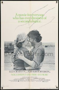 7h040 ALICE DOESN'T LIVE HERE ANYMORE 1sh '75 Martin Scorsese, Ellen Burstyn, Kris Kristofferson!
