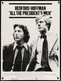 7h044 ALL THE PRESIDENT'S MEN 1sh '76 Dustin Hoffman & Robert Redford as Woodward & Bernstein!
