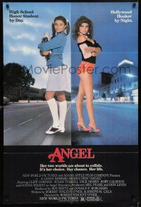 7h055 ANGEL 1sh '83 high school honor student by day, Hollywood hooker at night!