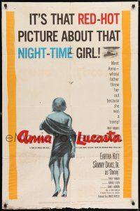 7h060 ANNA LUCASTA 1sh '59 red-hot night-time girl Eartha Kitt, Sammy Davis