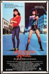 7h069 AVENGING ANGEL 1sh '85 Betsy Russell returns as hooker/college student!