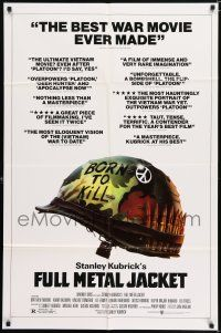 7h004 FULL METAL JACKET English 1sh '87 Kubrick, Matthew Modine & wounded Arliss Howard!