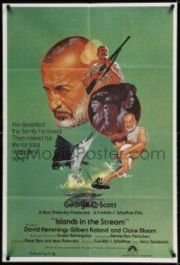 7h005 ISLANDS IN THE STREAM English 1sh '77 Ernest Hemingway, George C. Scott, Gentile art!