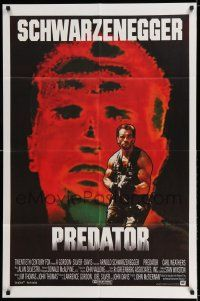 7h007 PREDATOR English 1sh '87 Arnold Schwarzenegger sci-fi, different art of heat-vision!