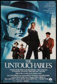 7h012 UNTOUCHABLES English 1sh '87 Kevin Costner, Robert De Niro, Sean Connery, Brian De Palma