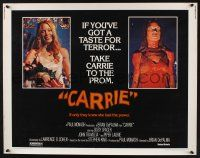 7k474 CARRIE 12sh 76 Stephen King Sissy Spacek before and after her bloodbath at the prom