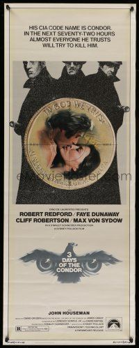 7k005 3 DAYS OF THE CONDOR insert '75 CIA analyst Robert Redford & Faye Dunaway!