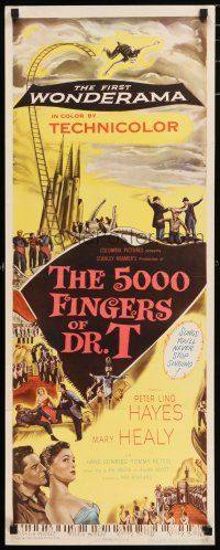 7k002 5000 FINGERS OF DR. T insert '53 Peter Lind Hayes, Mary Healy, Conried written by Dr. Seuss!