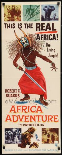 7k007 AFRICA ADVENTURE insert '54 this is the REAL Africa, the living jungle, wild native image!