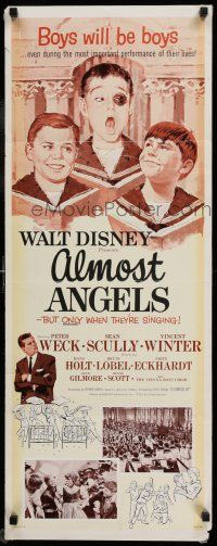 7k011 ALMOST ANGELS insert '62 Disney, boys will be boys, but they're only angels when singing!