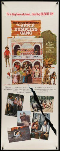 7k018 APPLE DUMPLING GANG insert '75 Disney, Don Knotts, Bill Bixby, wacky artwork!