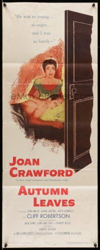 7k021 AUTUMN LEAVES insert '56 Cliff Robertson was young & eager and Joan Crawford was lonely!