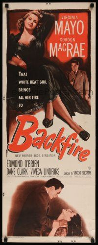7k024 BACKFIRE insert '50 sexy double-crossing Virginia Mayo seduces Gordon MacRae!