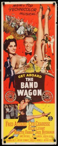 7k027 BAND WAGON insert '53 great image of Fred Astaire & sexy Cyd Charisse showing her legs!