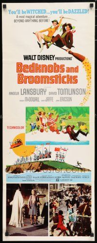 7k030 BEDKNOBS & BROOMSTICKS insert '71 Walt Disney, Angela Lansbury, great cartoon art!