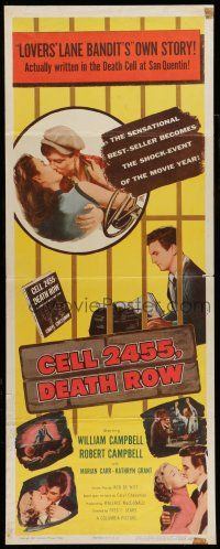 7k056 CELL 2455 DEATH ROW insert '55 biography of Caryl Chessman, no. 1 condemned convict!