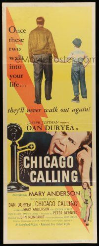 7k059 CHICAGO CALLING insert '51 $53 means life or death for Dan Duryea!