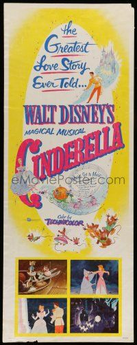 7k061 CINDERELLA insert R57 Walt Disney classic romantic musical fantasy cartoon!