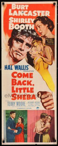 7k062 COME BACK LITTLE SHEBA insert '53 art of Burt Lancaster, Shirley Booth, Jaeckel & Moore!