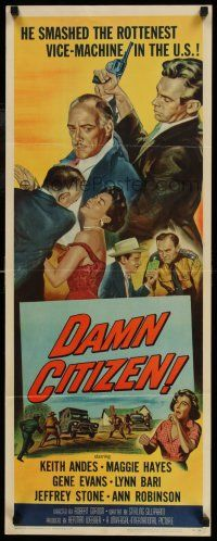 7k066 DAMN CITIZEN insert '58 he smashed the rottenest vice-machine in the U.S.!