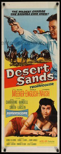7k076 DESERT SANDS insert '55 with the howling fury of a thousand sandstorms, they struck!