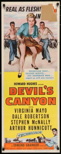 7k080 DEVIL'S CANYON 3D insert '53 artwork of sexy 3-D Virginia Mayo, Dale Robertson!