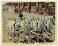 7m021 BEN-HUR color 8x10 still #7 '60 best image of Charlton Heston in chariot race, classic epic!