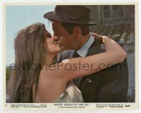 7m022 BIGGEST BUNDLE OF THEM ALL color 8x10 still #4 '68 c/u of sexiest Raquel Welch kissing Wagner