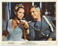 7m025 BLUE MAX color 8x10 still '66 c/u of George Peppard flirting with sexy Ursula Andress!