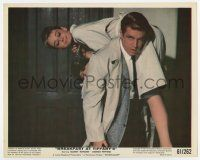 7m012 BREAKFAST AT TIFFANY'S color 8x10 still '61 Peppard carries Audrey Hepburn over his shoulder!