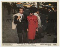 7m014 BREAKFAST AT TIFFANY'S color 8x10 still '61 Audrey Hepburn & Peppard holding hands on street!