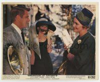 7m016 BREAKFAST AT TIFFANY'S color 8x10 still '61 Audrey Hepburn between Peppard & Patricia Neal!