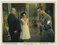 7m032 CAT ON A HOT TIN ROOF color 8x10 still #1 '58 Liz Taylor, Paul Newman & Big Daddy Burl Ives!