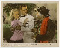 7m038 DOWN ARGENTINE WAY color-glos 8x10 still '40 Betty Grable & Don Ameche puzzled by Naish!