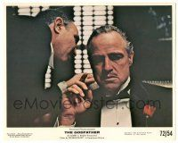 7m045 GODFATHER 8x10 mini LC '72 best close up of Marlon Brando, Francis Ford Coppola classic!
