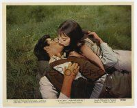 7m046 GREEN MANSIONS color 8x10 still #1 '59 c/u of Audrey Hepburn & Perkins kissing on ground!