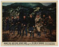 7m047 GUNS OF NAVARONE color 8x10 still #8 '61 posed portrait of Gregory Peck & top cast with guns!