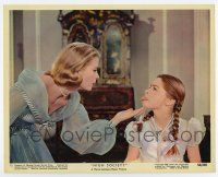 7m050 HIGH SOCIETY color 8x10 still #12 '56 Lydia Reed sticks her tongue out at sister Grace Kelly!