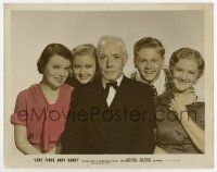 7m054 LOVE FINDS ANDY HARDY color-glos 8x10 still '38 Mickey Rooney, Lewis Stone & family posing!