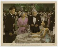7m056 LUCKY PARTNERS color 8x10 still '40 Ginger Rogers smiles at Ronald Colman & old couple!