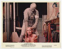 7m062 MUMMY'S SHROUD color 8x10 still '67 Hammer horror, bandaged monster attacking sexy blonde!