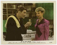 7m063 MY LIFE WITH CAROLINE color 8x10 still '41 Anna Lee watches Ronald Colman about to shave!