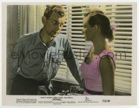 7m067 NIAGARA color 8x10.25 still '53 close up of Joseph Cotten staring at pretty Jean Peters!