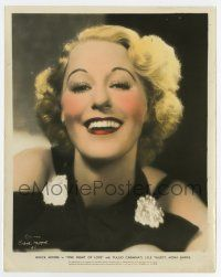 7m072 ONE NIGHT OF LOVE color 8x10 still '34 head & shoulders smiling c/u of pretty Grace Moore!