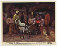 7m075 PORGY & BESS color 8x10 still '59 handicapped Sidney Poitier riding on cart pulled by goat!