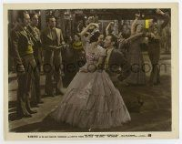 7m077 RAMONA color 8x10 still '36 3 men wait for turn to dance with Loretta Young after Kent Taylor!
