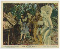 7m002 WIZARD OF OZ color English FOH LC R55 Dorothy, Scarecrow, Lion & Tin Man by broken sign!